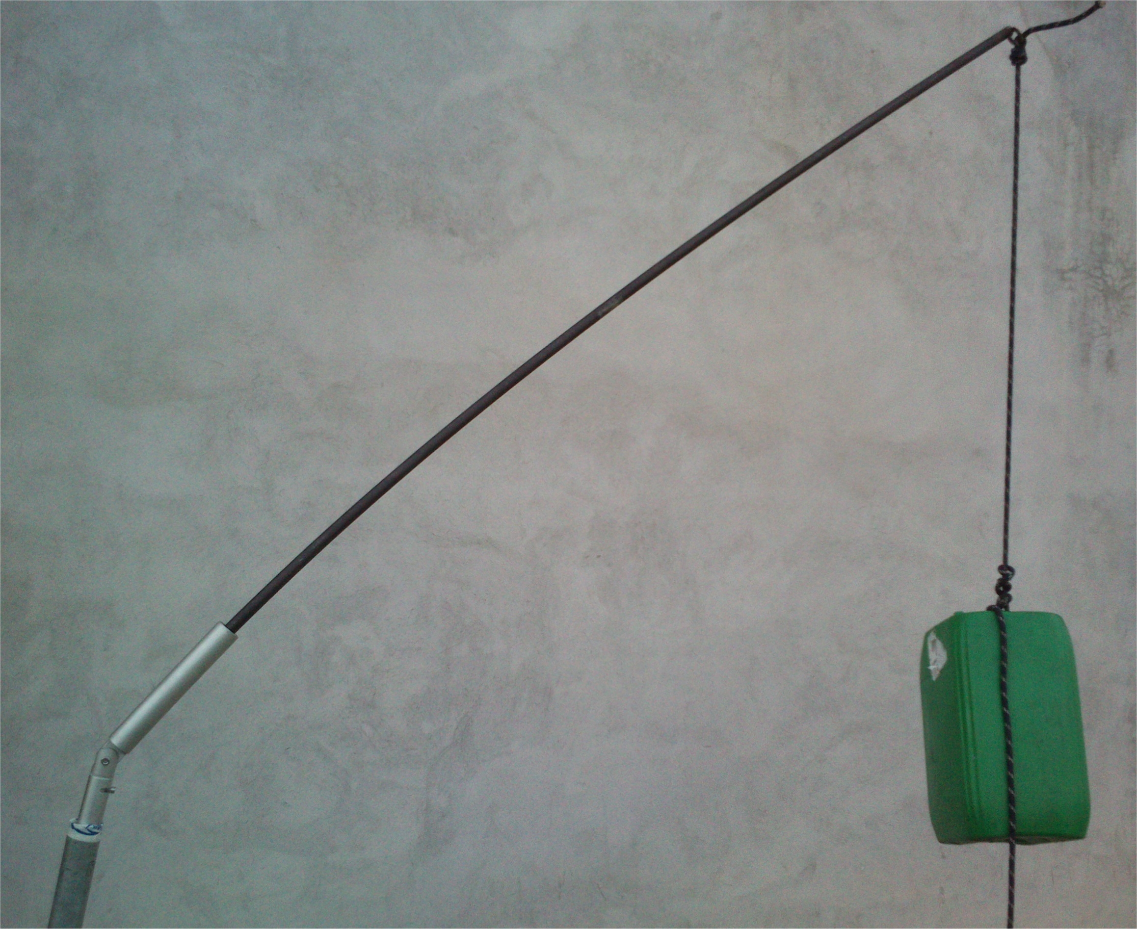 TEST con 22 KG di appesi su barra a simulare canna lunga 2 metri